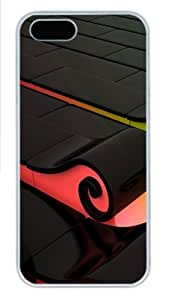 3D Colorful waves PC Case Cover for iPhone 5 and iPhone 5s ¡§C White