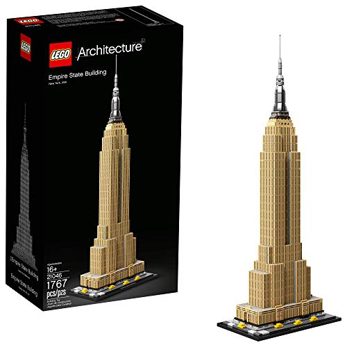 LEGO Architecture Empire State Building 21046 New York City Skyline Architecture Model Kit for Adults and Kids, Build It Yourself Model Skyscraper, New 2019 (1767 Pieces) (Lego Architecture Building Set)