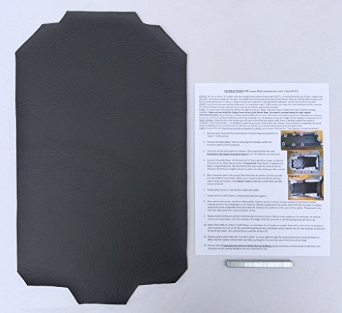 Ford Explorer armrest console replacement cover with staples - Dark Charcoal Gray
