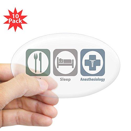 CafePress - Eat Sleep Anesthesiology Oval Sticker (10 Pk) - Oval Sticker (10-pack), Bumper Sticker, Car Decal, Euro Oval
