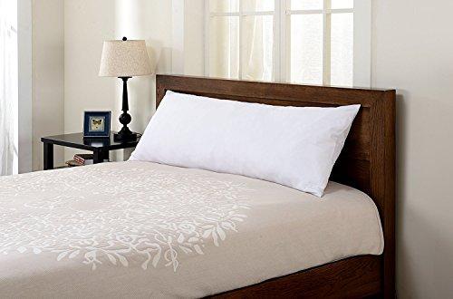 SGI bedding 600 Thread Count 100% Egyptian Cotton 21x56 Body Pillow Cover White Solid