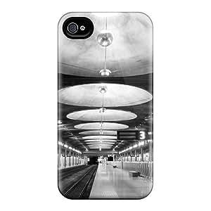 THKGRML8323lpmMB Anti-scratch Case Cover RachelMHudson Protective Art Deco Train Station Case For Iphone 4/4s