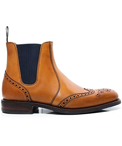 Tan Stiefel Mens hoskins Chelsea Brogue Loake wt0FXBwq