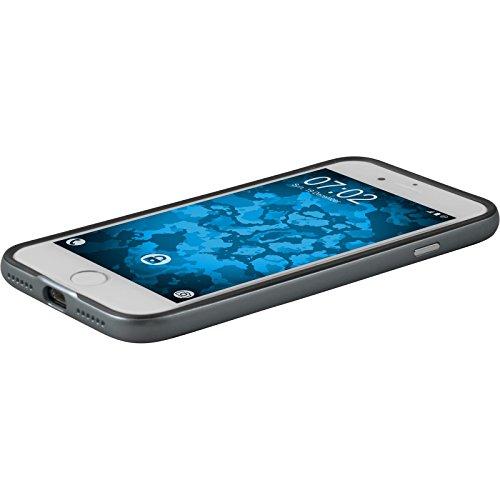 Hybridhülle für Apple iPhone 8 - Carbonoptik grau - Cover PhoneNatic Schutzhülle + 2 Schutzfolien