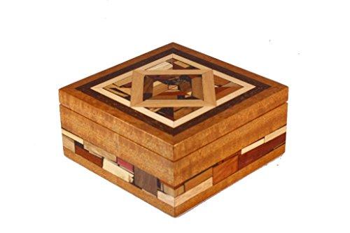 Mosaic Jewelry Box - Keepsake Jewelry Boxes - Wooden Box - Medium
