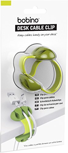 Bobino Desk Cable Clip - Lime - Stylish Cable and Wire Management / Organizer (Stylish Clip)