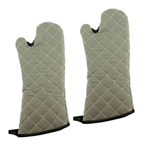 New Star 32314 Commercial Grade Flame Retardant/Resistant Oven Mitts with Extra Defense, 17-Inch, Set of 2