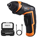 Cordless Screwdriver, TACKLIFE Electric Screwdriver, 4V MAX 2000mAh Li-ion with Battery Indicator, 31 Free Accessories, USB Rechargeable, Lightweight and Easy for Small Home Projects-SDP50DC