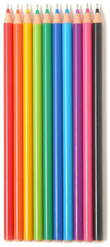 Promarx Rainbow Fashion Ink Pens, Assorted Colors, 10 Count