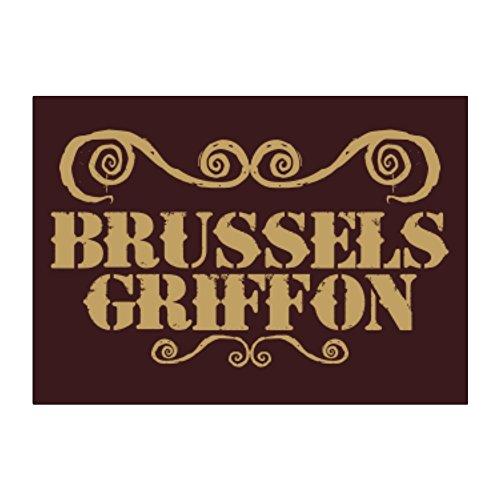 Griffon Ornaments (Teeburon Brussels Griffon ORNAMENTS URBAN STYLE Pack of 4 Stickers)