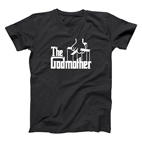 (The Godmother Italian Mob Funny Mafia God Mother Classic Unisex Shirt XX-Large Black Mens Shirt X-Large)
