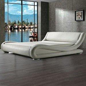 muebles bonitos cama de matrimonio de diseo barcelona en color blanco 150 x 190 cm