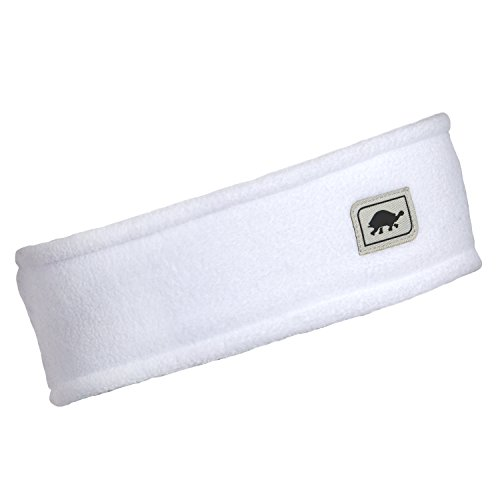 Turtle Fur Double-Layer Headband, Chelonia 150 Fleece, White