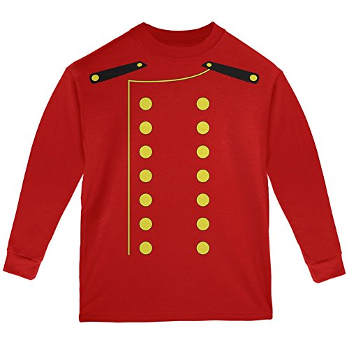 Halloween Hotel Bellhop Costume Red Youth Long Sleeve T-Shirt - Youth -