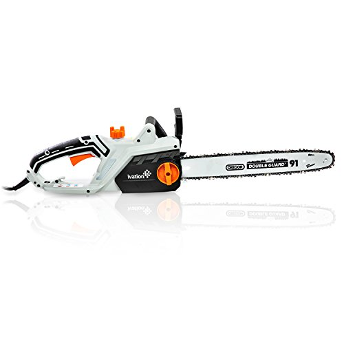 Ivation 16-Inch 15.0 AMP Electric Chainsaw With Auto oiling, Automatic tension & Chain Break, Includes BONUS Oil Bottle