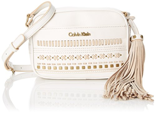 Boho-Chic Vacation & Fall Looks - Standard & Plus Size Styless - Calvin Klein Pebble Tassel Cross Body Bag, White, One Size