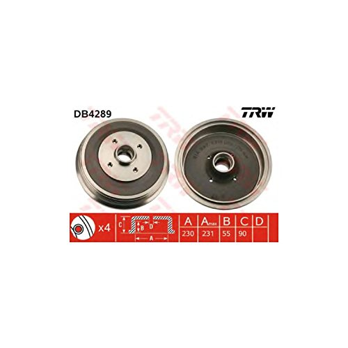 TRW DB4289 Brake Drums: