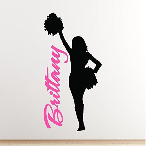 Personalized Cheerleader Wall Decal Art Cheerleading Sticker Words