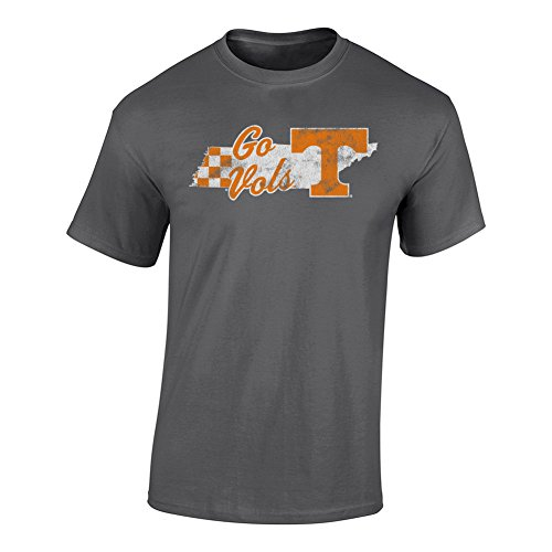 Elite Fan Shop NCAA Men's Tennessee Volunteers T Shirt Charcoal Vintage Tennessee Volunteers Charcoal X - Volunteers Tee Pack Tennessee