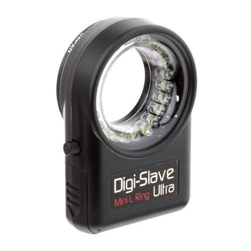 Digi-Slave Mini L-Ring Ultra, Lightweight Continuous Light Ring for Close-Up Photography, for Lens Threads up to 52mm. by Digi