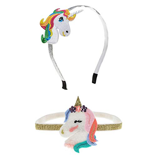 A Miaow Girl Unicorn Horn Headband Halloween Hair Hoop Birthday Party Stitchwork Decoration (Hair Clasp) ()