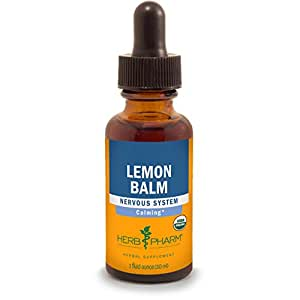 Herb Pharm Lemon Balm Extract for Calming Nervous System Support - 1 Ounce