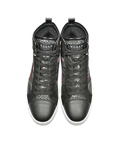 Hogan Rebel Hi Top Sneakers Donna HXW1410S650EKJ0BB7 Pelle Multicolor