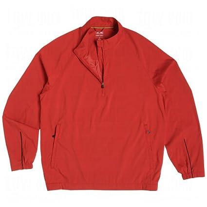b22c196b5f17f Amazon.com: adidas Men's ClimaProof Wind Half Zip Jacket University ...
