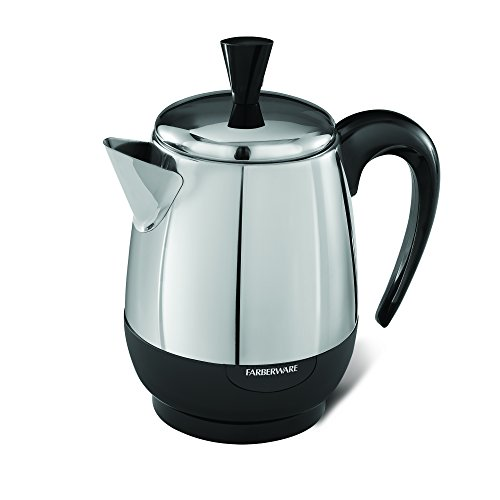 Farberware 4-Cup Percolator, Stainless Steel