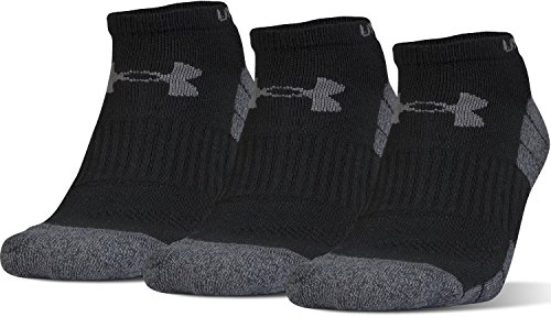 Under Armour Men's Elevated Performance No Show (3 Pack), Black Marl/Graphite, Large