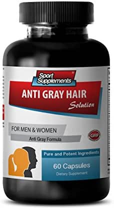 Saw palmetto extract - Anti Gray Hair - Anti aging skin products - Anti gray hair (1 Bottle - 60 Capsules)