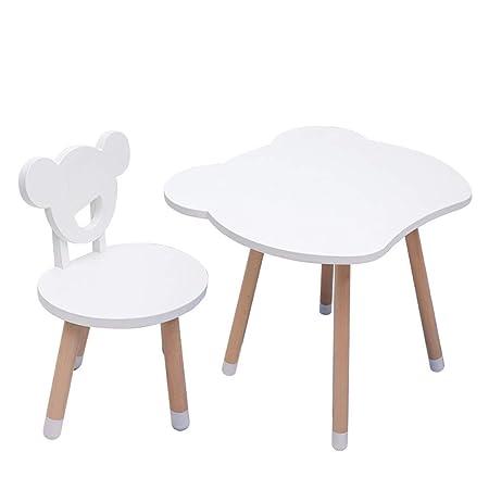 Yqihy Mesa + 2 sillas. Juego de Mesa y Silla de Madera para niños ...