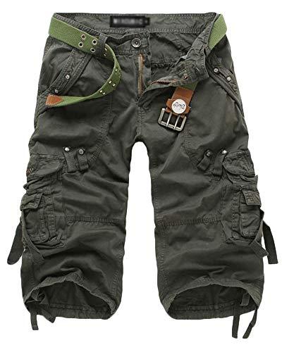 Short Bermuda Tasconi Pantaloncini Camouflage Combattimento Cargo Verde Liangzhu Con Laterali Corti qxC4wCag