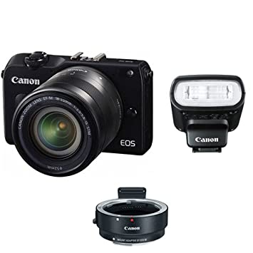 Black Body Only No Warranty Canon EOS M2 Mark II 18.0 MP Digital Camera International Version