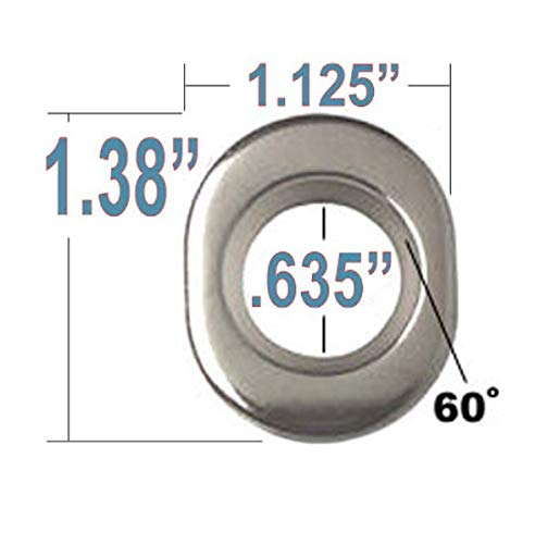 20 ET Conical Bulge Long Lug Nuts 7//16-20 with Center Washers 0.33 Shank 0.62 Dia 1.75 Length