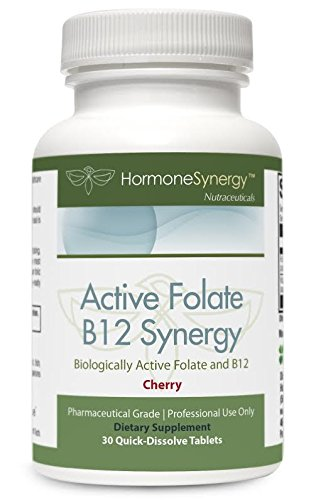 Active Folate B12 Synergy Lozenge | Active B12 With L-5-MTHF | 1000 mcg 5-MTHF as Quatrefolic – 2500 mcg B12 MecobalActive ™ | Physician Formulated | Free eBook