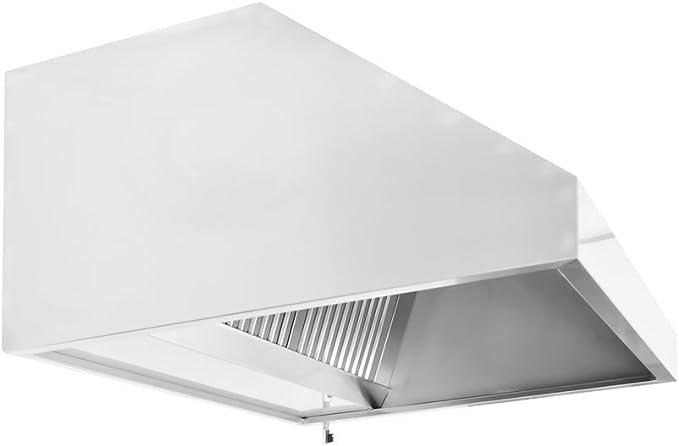 Cappa profesional a pared 2400 x 900 de acero de alta calidad, AISI 304 – Motor incorporado – Filtros de laberinto: Amazon.es: Hogar