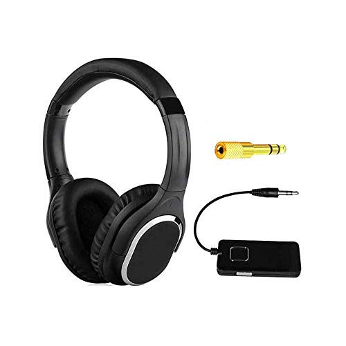 (Metal Detector Headphone Wireless 3.5mm 1/4 Inch Jack 2.4G Digital Stereo Sound Build-in Microphone Rechargeable Earphone 2.4 GHZ Metal Detecting Accessories (2.4G Rechargeable)