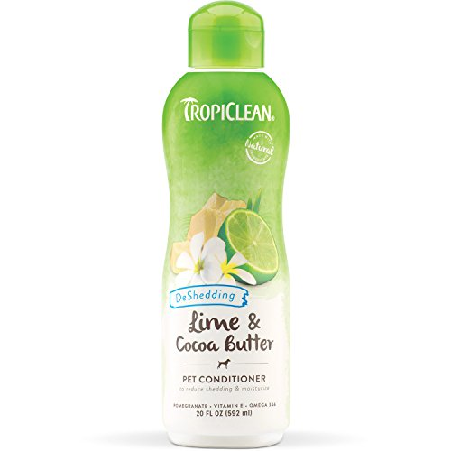 TropiClean Lime and Cocoa Butter Conditioner for Pets, 20oz, Made in USA