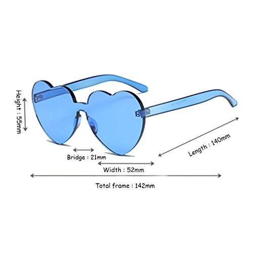 Femmes De Lunettes Lentille Ioshapo Monture Fille Forme Bonbons Sans Bleu Transparent Coeur Soleil Couleur 6F0qU1wd
