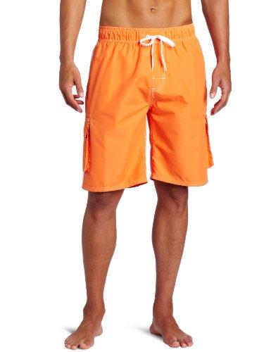 Kanu Surf Men's Barracuda Swim Trunks (Regular & Extended Sizes), Orange, 3X