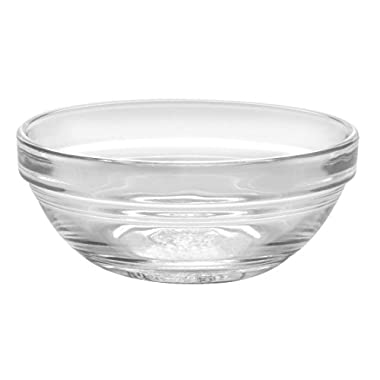 Duralex Lys Stackable Glass Bowl (Set of 4), 1 oz., 2.3 Inches, Clear
