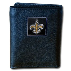 - NFL Football New Orleans Saints Leather Trifold Wallet