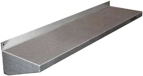 KegWorks Stainless Steel Wall Shelf – 36 Length 6 Deep