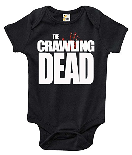 The Crawling Dead Fun Cute Infant One-piece Bodysuit for Boys and Girls (6-12 Months, Black)
