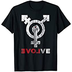 Transgender Symbol Love Evolve Non-Binary LGBT Shirt
