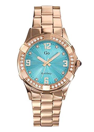 GO Girl Only - 694891 - Reloj Mujer - Cuarzo Analógico - Esfera Azul - Pulsera acero dorado: Amazon.es: Relojes