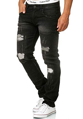 Pantalon Coupe Destroy Jean Extensible Ohio Denim Indicode Régulaire Homme Black HqEYff