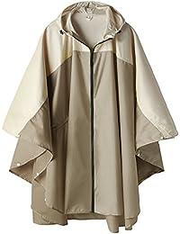 Women Rain Jacket Hooded Coat with Pockets Outdoors