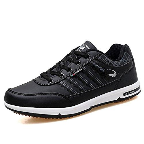 Herbst Winter Männer Casual Sport Laufschuhe Atmungsaktive Sport Wanderschuhe Low-Top Sneakers Walking Trainer Schuhe 39-44 Black